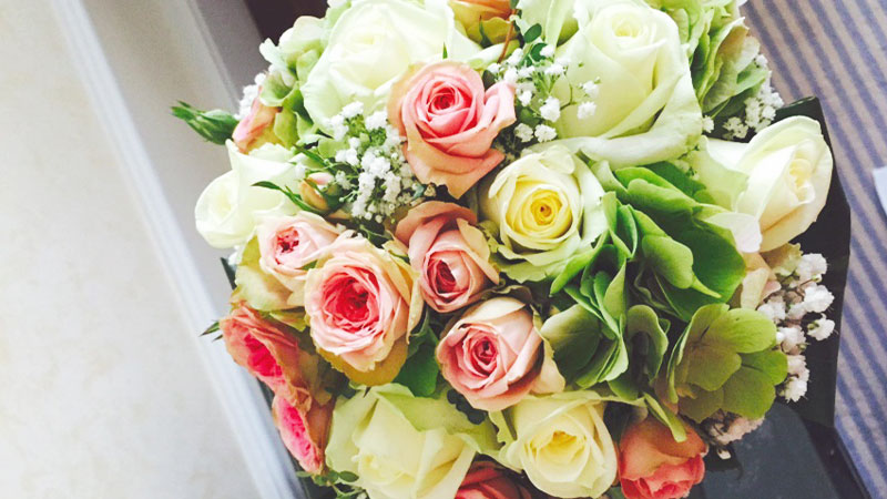 Rosen Hortensien Strauß
